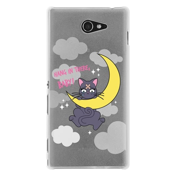 Sony M2 Cases - Hang In There, Baby - Luna, Sailor Moon, Cat