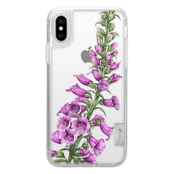 iPhone X Cases - foxglove