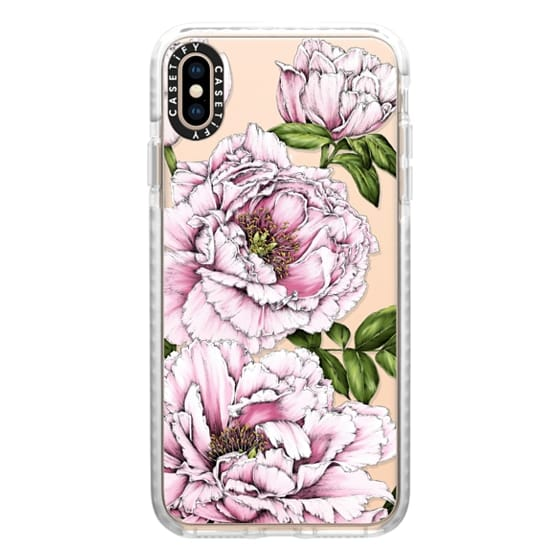 iPhone XS Max Cases - Peony Flower
