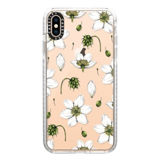 iPhone XS Max Cases - Anemone Pattern