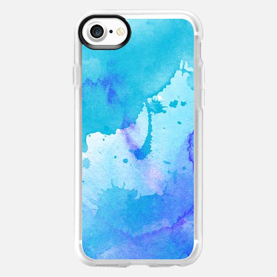 watercolor blue  - Wallet Case