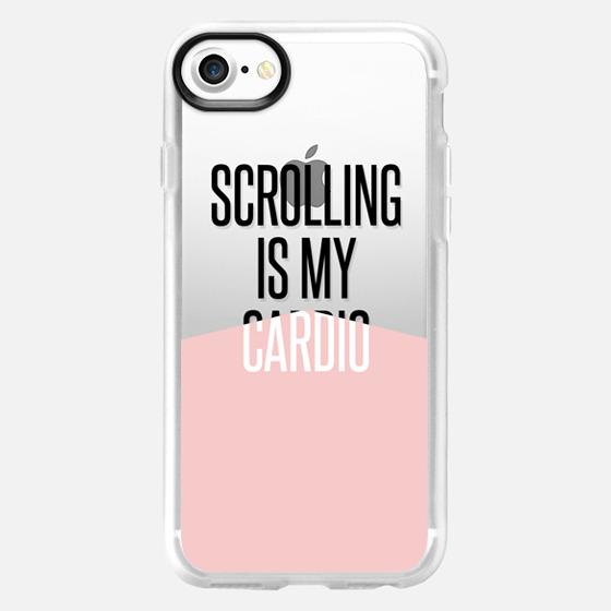 scrolling is my cardio / pantone rose quartz -