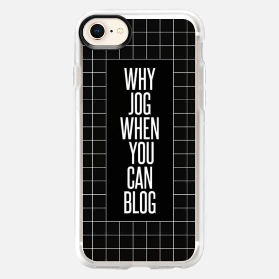why jog when you can blog 2 dark - Snap Case