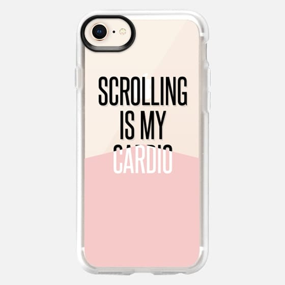scrolling is my cardio / pantone rose quartz - Snap Case