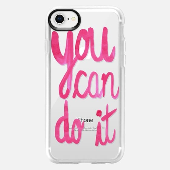 You can do it! pink strecth - Snap Case