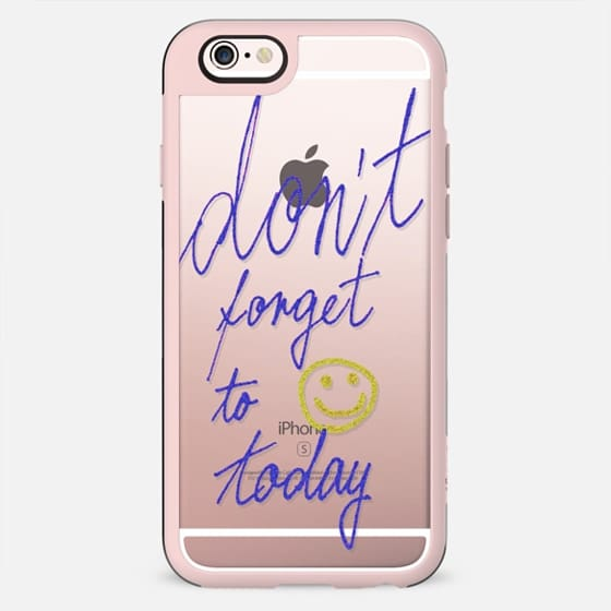 Glitter - Don't forget to smile today - New Standard Case