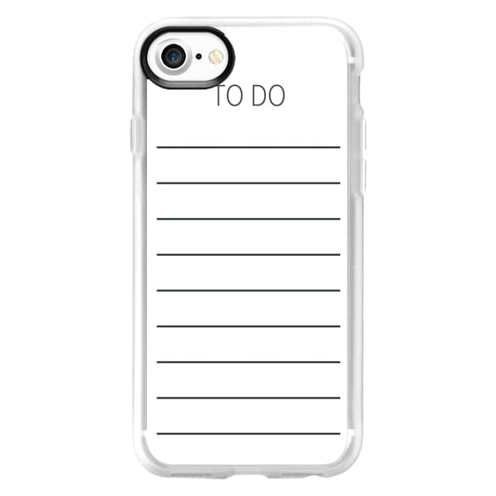 iPhone 7 Cases - new year to do list 2016 notebook