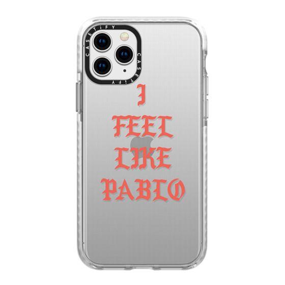 iPhone 11 Pro Cases - I FEEL LIKE PABLO - KANYE WEST TLOP TRANSPARENT