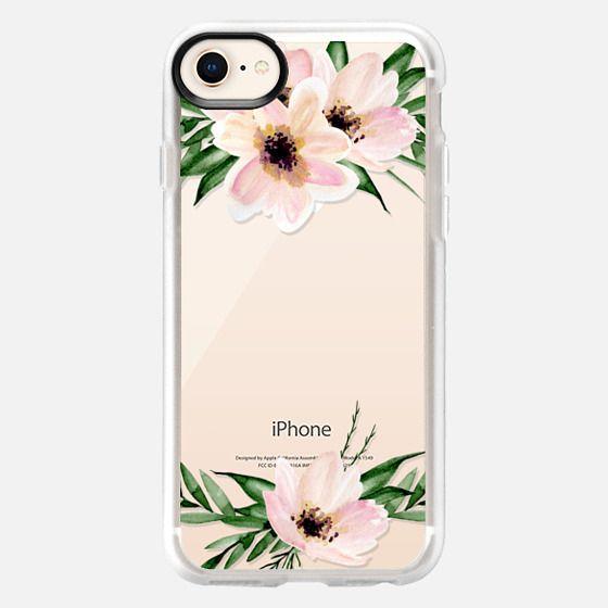 Floral bouquet. Pink flowers. Watercolor - Snap Case