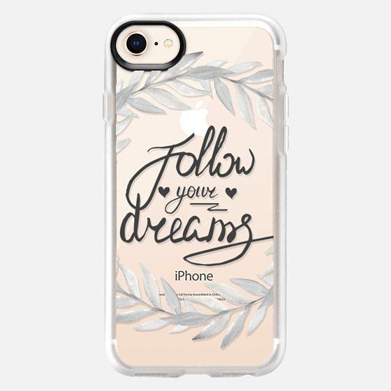 Follow your dreams. Watercolor wreath - Snap Case