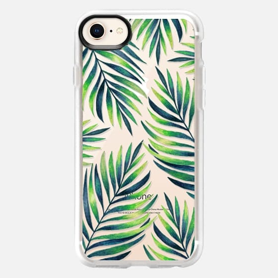 Tropical leaves. Watercolor - Snap Case