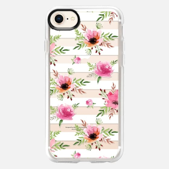 Floral white pattern. Watercolor - Snap Case