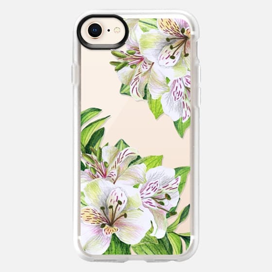 White orchids. Watercolor flowers - Snap Case