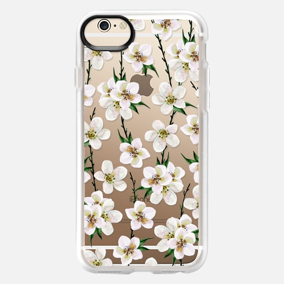 iPhone 6 Case - White flowers and green branches. Watercolor