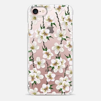 iPhone 7 Case White flowers and green branches. Watercolor