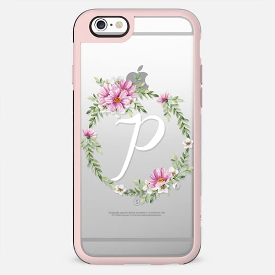 Monogram (P). Watercolor wreath - New Standard Case