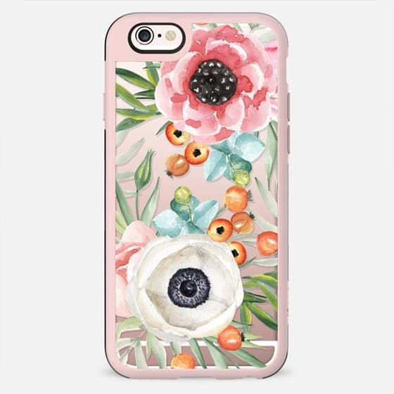 Watercolor flowers and berries - New Standard Case