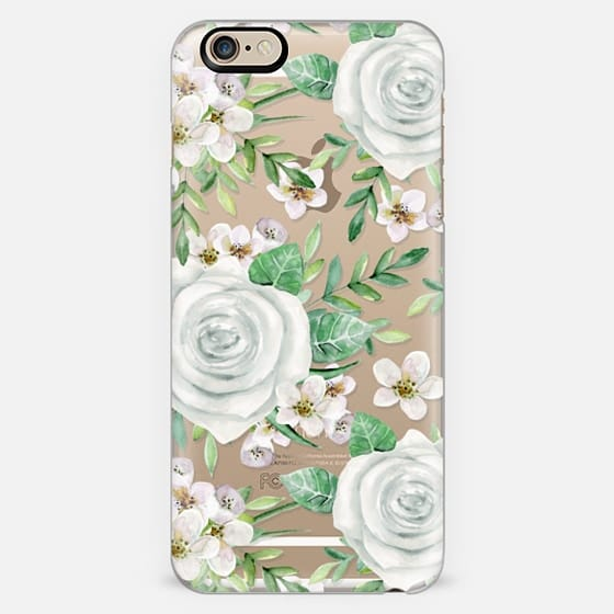 White roses. Watercolor pattern
