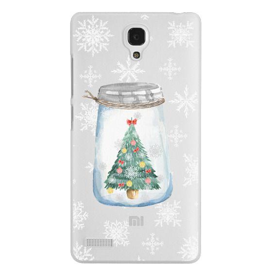 Christmas glass jar with tree
