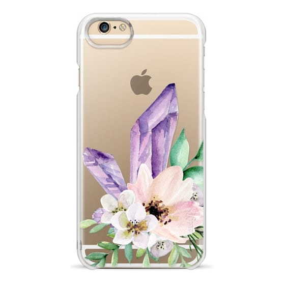 iPhone 4 Cases - Crystals and flowers. Watercolor