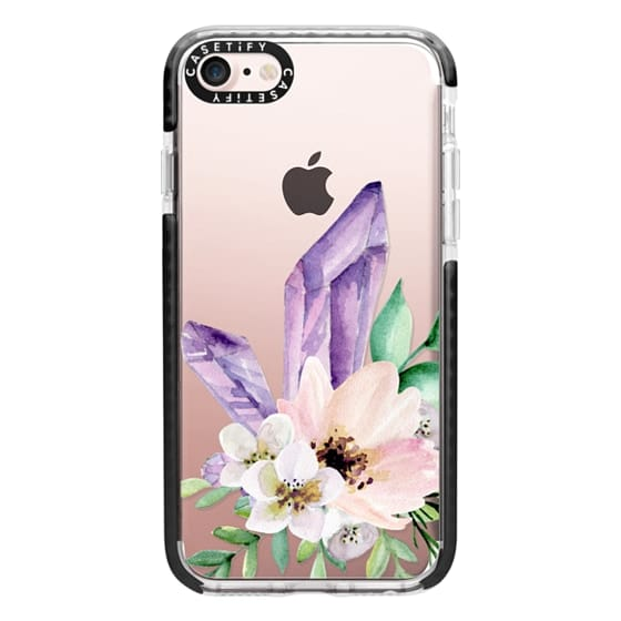 iPhone 7 Cases - Crystals and flowers. Watercolor