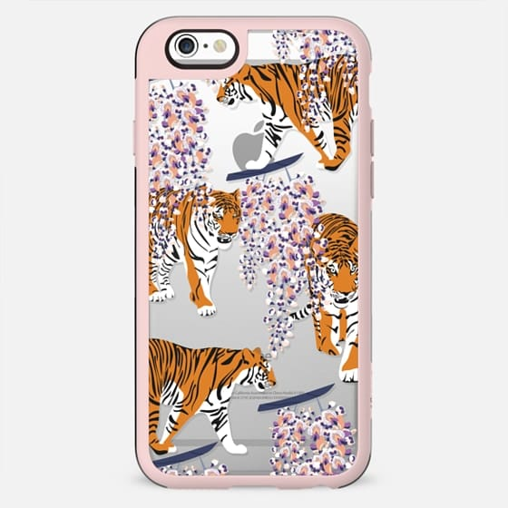 Siberian tiger. Clear case