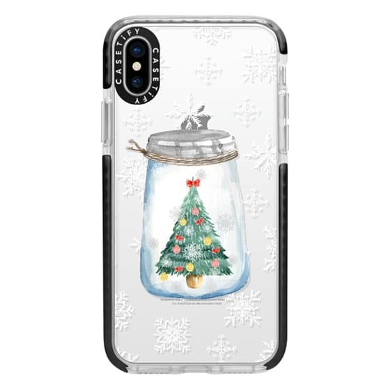 Christmas Iphone X Case.Impact Iphone X Case Christmas Glass Jar With Tree