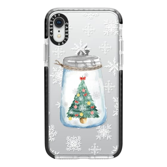 iPhone XR Cases - Christmas glass jar with tree
