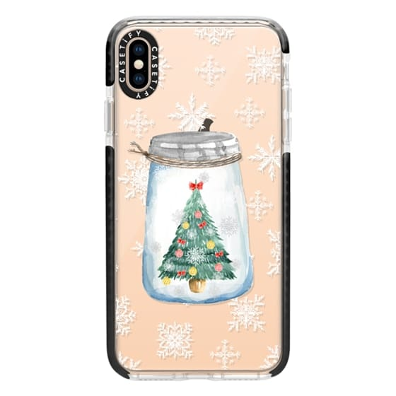 iPhone XS Max Cases - Christmas glass jar with tree