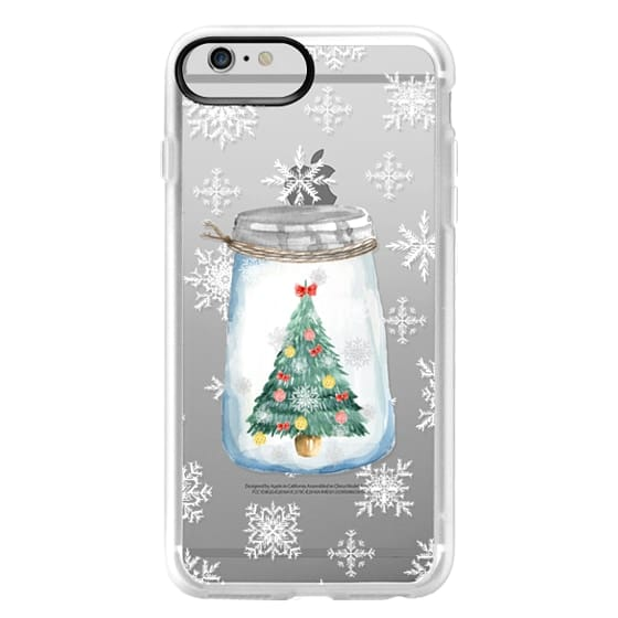iPhone 6 Plus Cases - Christmas glass jar with tree