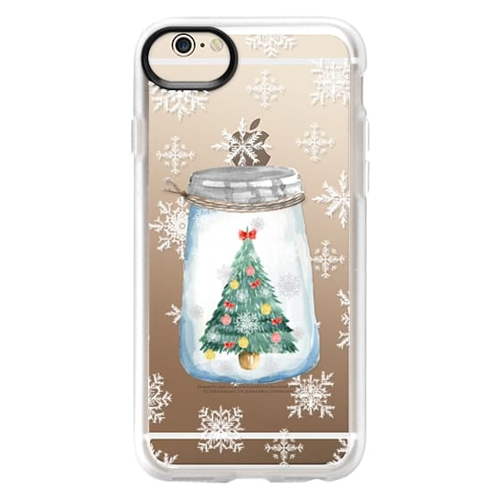 iPhone 6 Cases - Christmas glass jar with tree