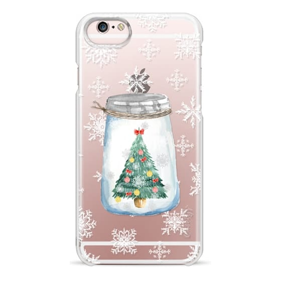 iPhone 6s Cases - Christmas glass jar with tree