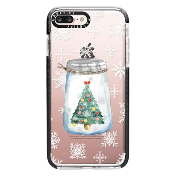 iPhone 7 Plus Cases - Christmas glass jar with tree