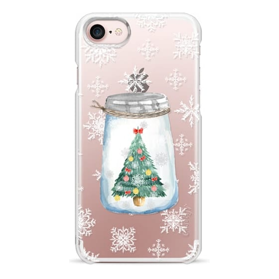 iPhone 7 Cases - Christmas glass jar with tree