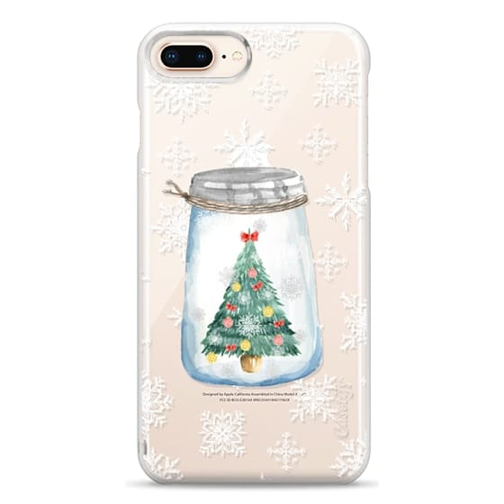 iPhone 8 Plus Cases - Christmas glass jar with tree