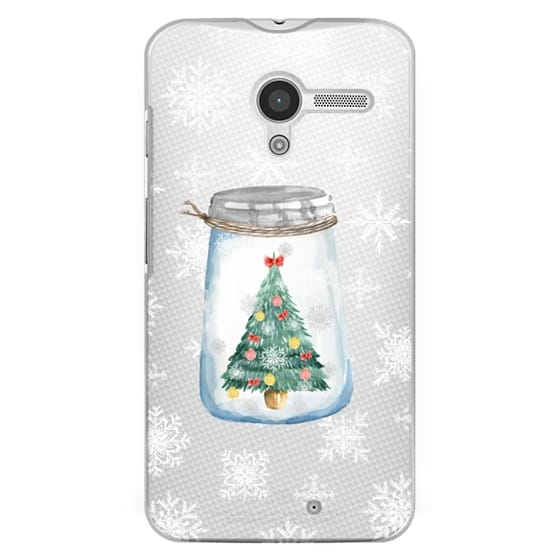 Moto X Cases - Christmas glass jar with tree