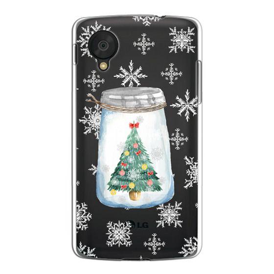 Nexus 5 Cases - Christmas glass jar with tree