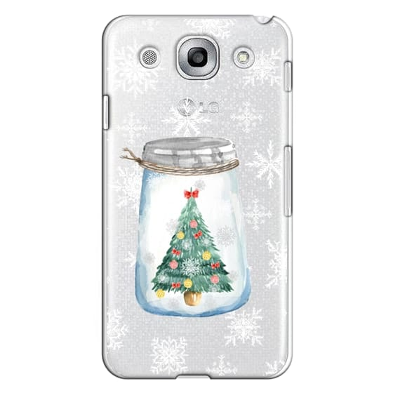 Optimus G Pro Cases - Christmas glass jar with tree