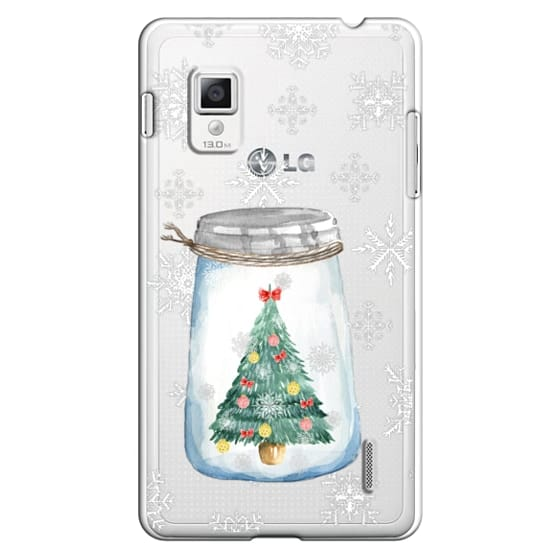 Optimus G Cases - Christmas glass jar with tree