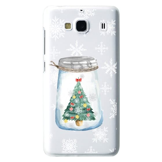Redmi 2 Cases - Christmas glass jar with tree