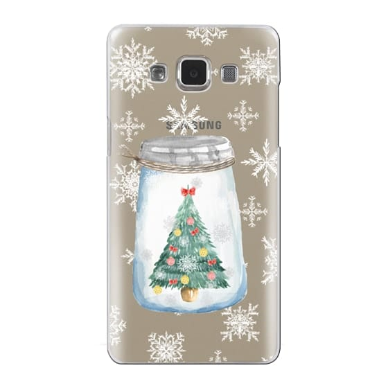 Samsung Galaxy A5 Cases - Christmas glass jar with tree