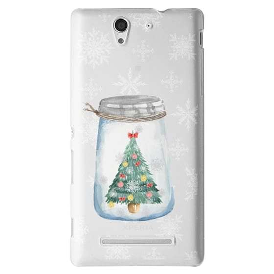 Sony C3 Cases - Christmas glass jar with tree