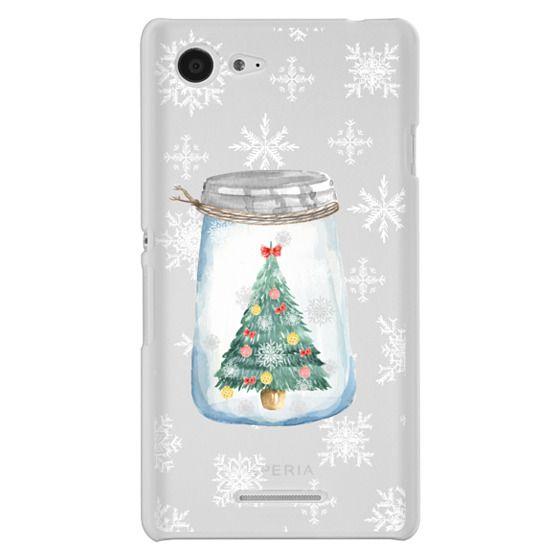 Sony E3 Cases - Christmas glass jar with tree