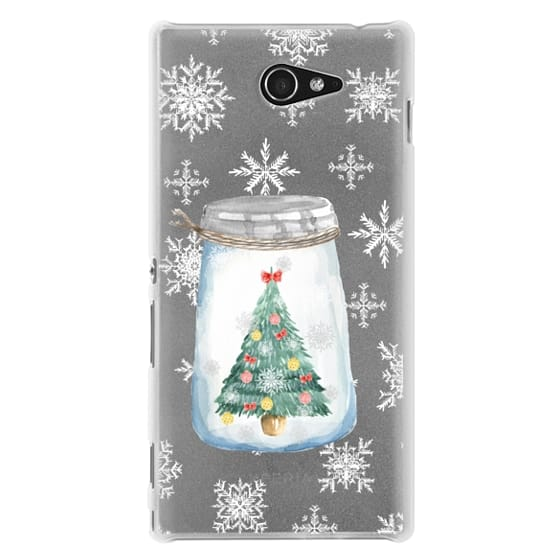 Sony M2 Cases - Christmas glass jar with tree