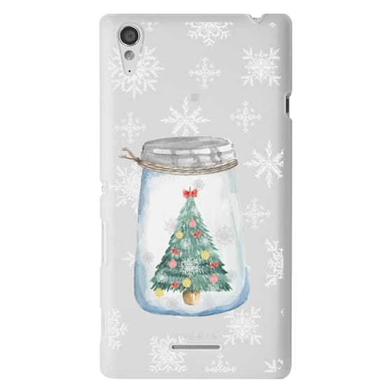 Sony T3 Cases - Christmas glass jar with tree