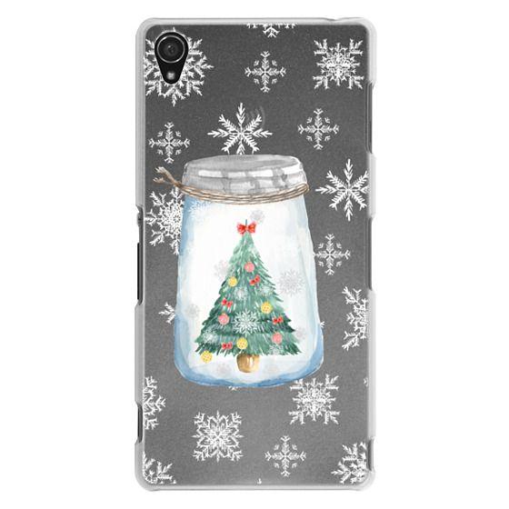Sony Z3 Cases - Christmas glass jar with tree