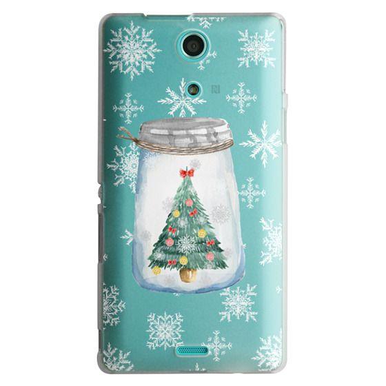 Sony Zr Cases - Christmas glass jar with tree
