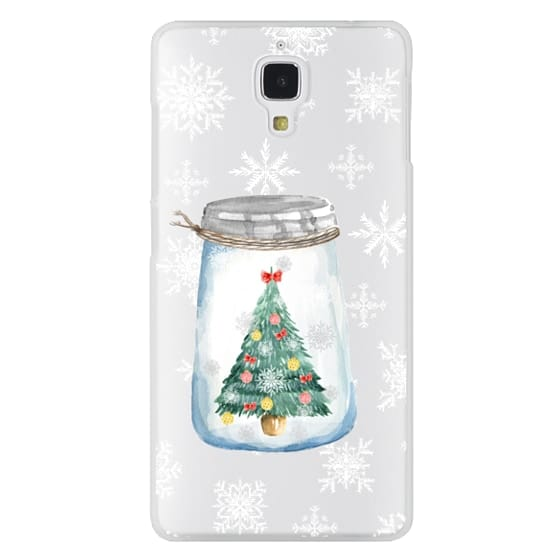 Xiaomi 4 Cases - Christmas glass jar with tree