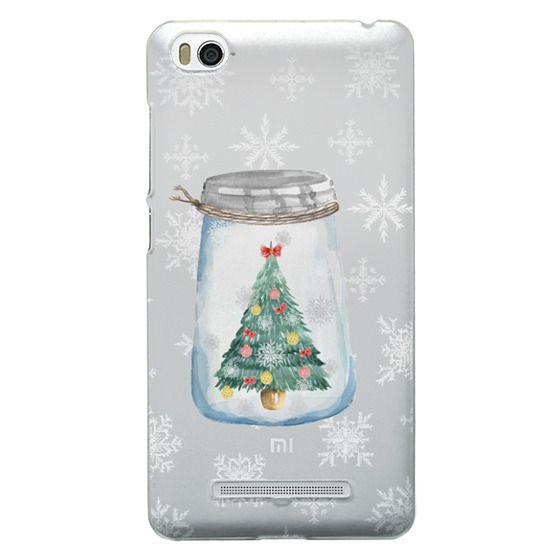 Xiaomi 4i Cases - Christmas glass jar with tree