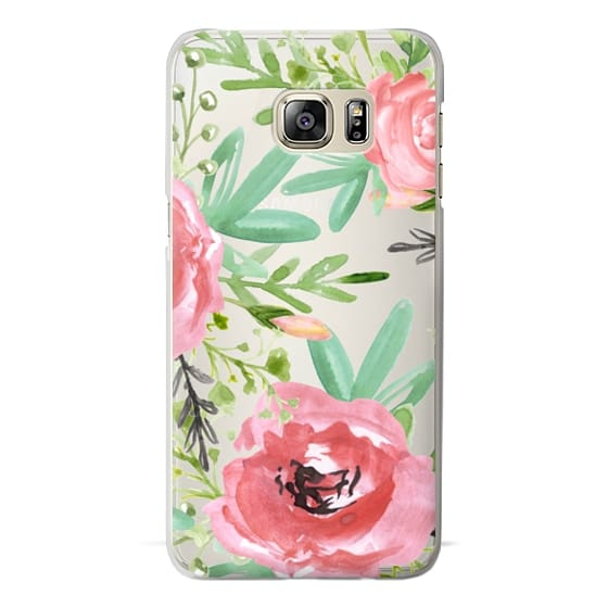 Samsung Galaxy S6 Edge Plus Cases - Red flowers. Watercolor